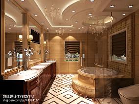 精选面积125平别墅卫生间新古典装