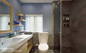 精美面积103平美式三居卫生间装修