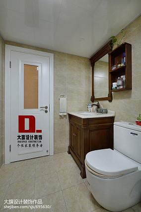 美式四居卫生间装修图片欣赏