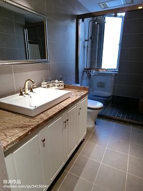 热门欧式三居卫生间装修设计效果