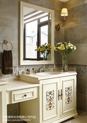 2020118平米美式别墅卫生间装修效