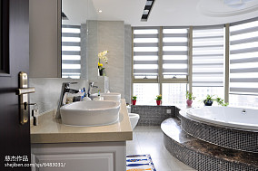 家装现代风卫浴效果图