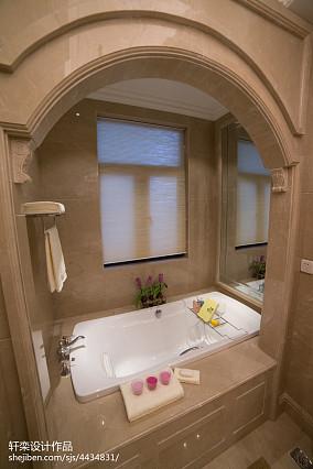 128平米欧式别墅卫生间装饰图片大