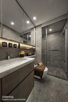 热门混搭卫生间装修设计效果图片