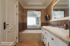 面积143平别墅卫生间美式装修效果