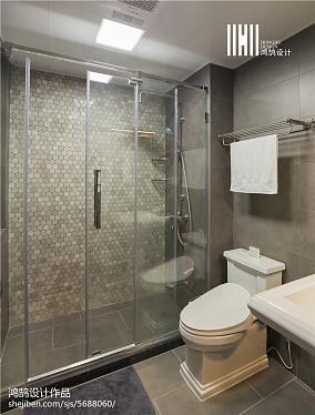 精美面积78平北欧二居卫生间装饰