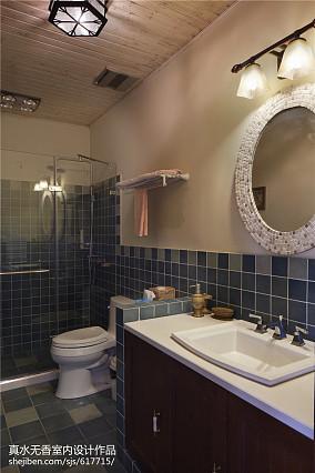 精美106平方三居卫生间混搭装修图