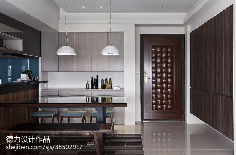 60m²以下二居现代简约家装装修效果图展示11