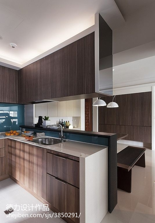 60m²以下二居现代简约家装装修效果图展示19