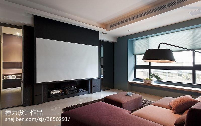 60m²以下二居现代简约家装装修效果图展示3