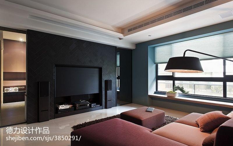 60m²以下二居现代简约家装装修效果图展示4