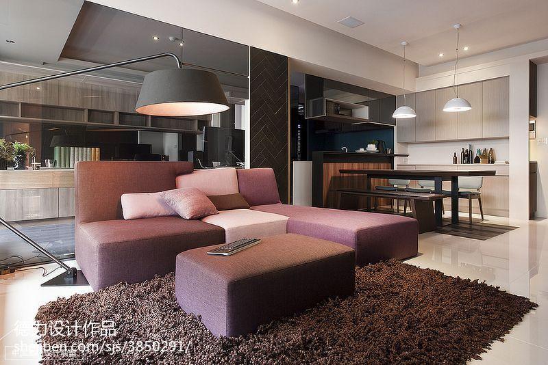 60m²以下二居现代简约家装装修效果图展示17