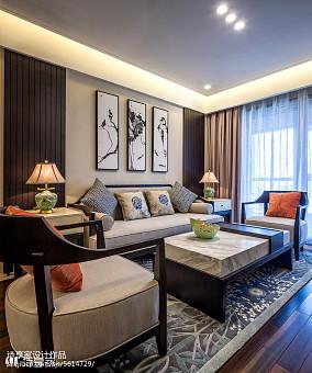 50万88㎡中式现代家装装修效果图