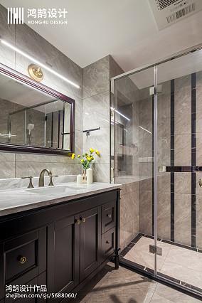 精美面积92平美式三居卫生间装饰