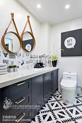 现代风样板间卫浴设计图