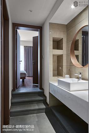 2020中式四居卫生间装修设计效果
