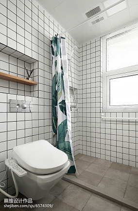 四居卫生间日式设计效果图