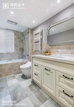 143平现代美式卫浴设计图