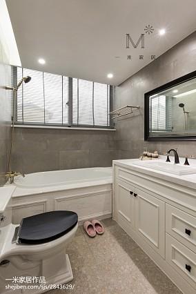 浪漫144平美式四居卫生间装修效果