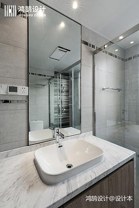 热门106平米三居卫生间现代装饰图