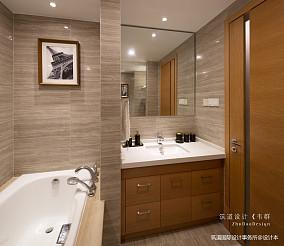 浪漫60平现代复式卫生间布置图