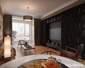 45万120㎡中式现代家装装修效果图