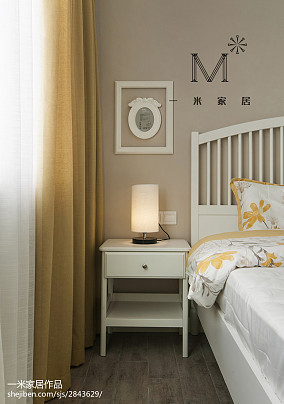 简洁76平北欧二居卧室设计效果图