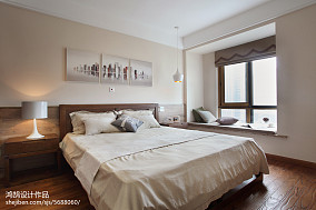 精选大小93平简约三居卧室装修设