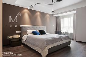 典雅106平现代三居卧室装潢图