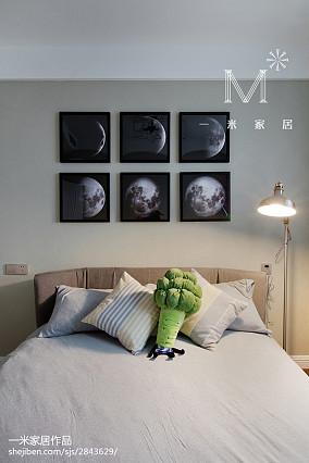 温馨65平现代二居卧室效果图片大