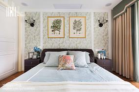 面积96平美式三居卧室装修欣赏图