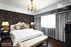 2020面积109平美式三居卧室效果图