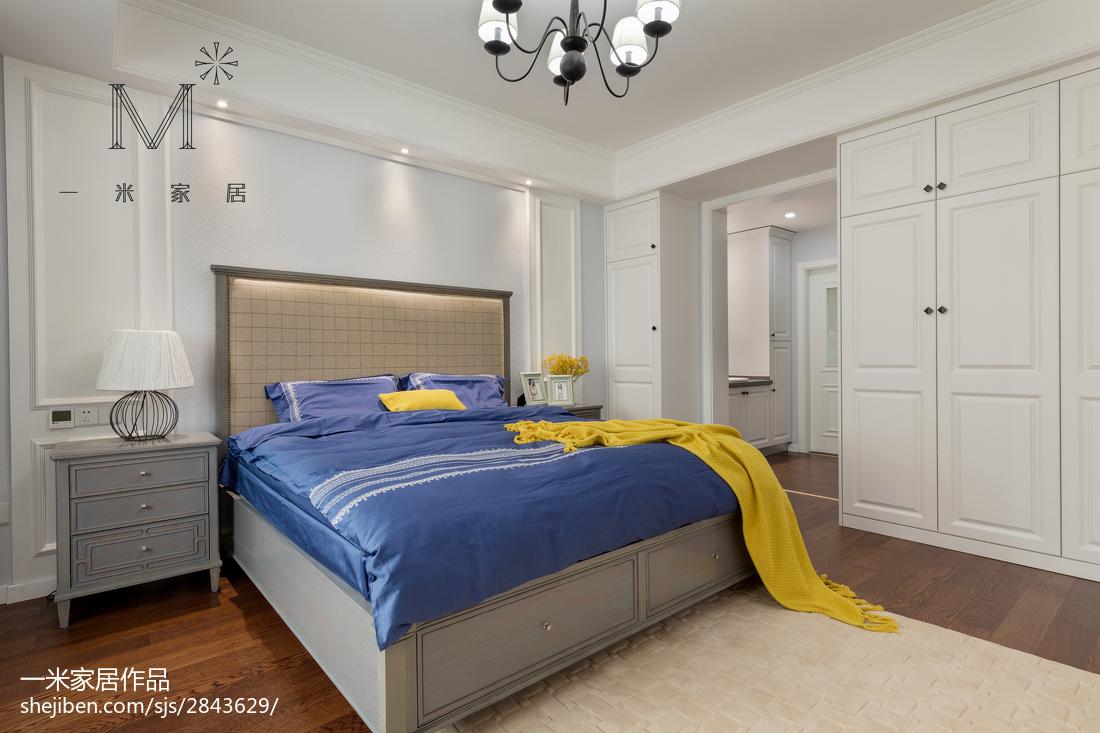 大气95平美式三居卧室装修图片展示