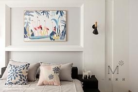 轻奢91平现代三居卧室装潢图