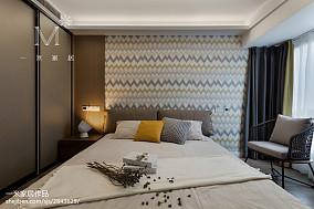 质朴96平现代三居卧室装修设计图