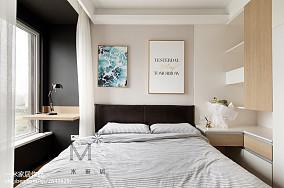 温馨75平现代三居卧室案例图