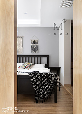 典雅83平北欧三居卧室装修美图