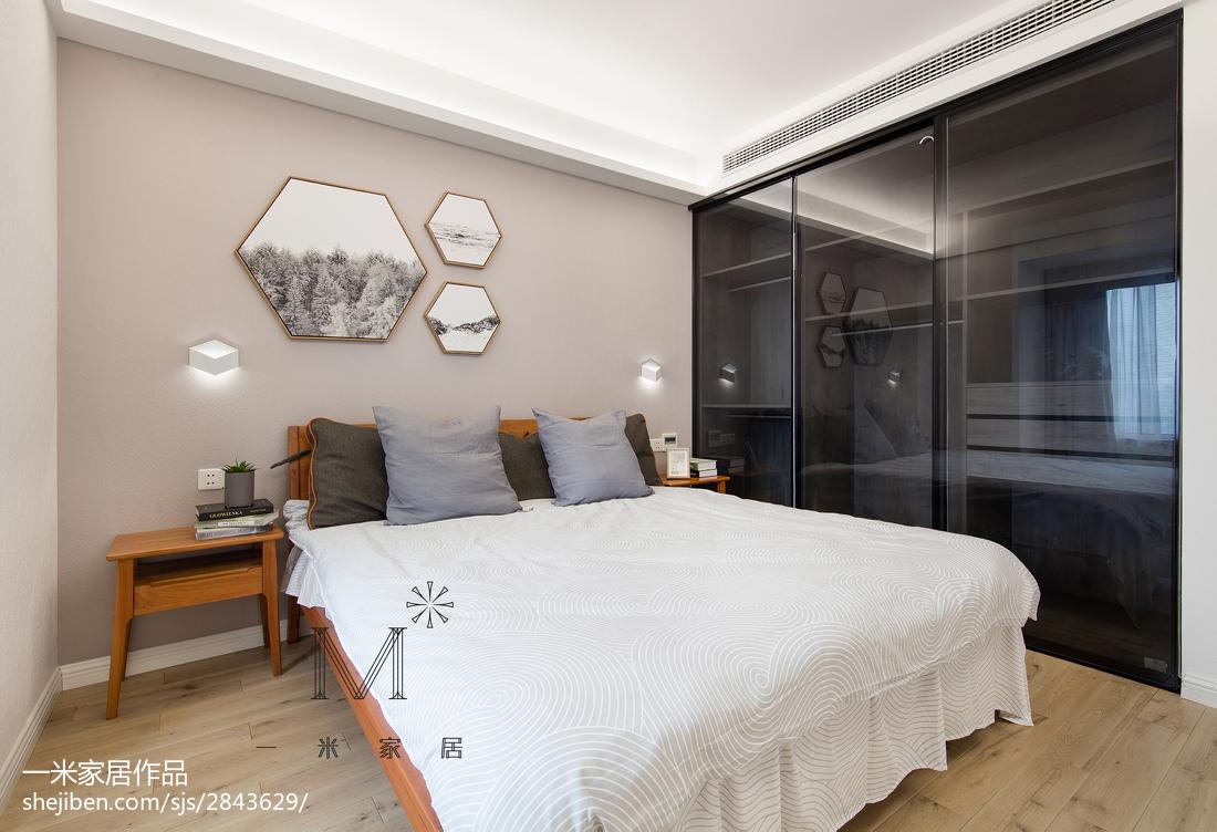 质朴109平北欧三居卧室实拍图展示