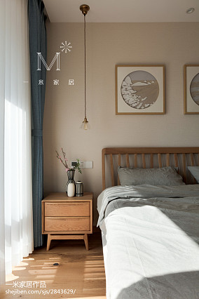 大气81平日式二居卧室装饰图片