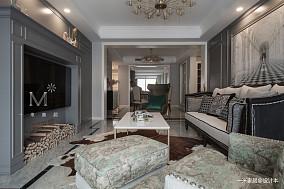 优雅150平美式三居客厅实景图片