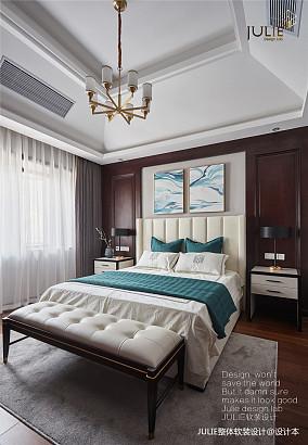 悠雅383平中式别墅卧室装修图