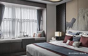 悠雅264平中式样板间卧室实景图