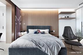 悠雅72平北欧三居卧室装饰美图