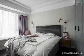 悠雅86平北欧三居卧室设计图