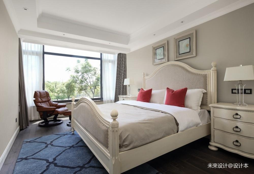 室内效果图之美式别墅豪宅卧房全景