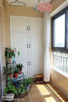 悠雅123平美式三居阳台装饰图片