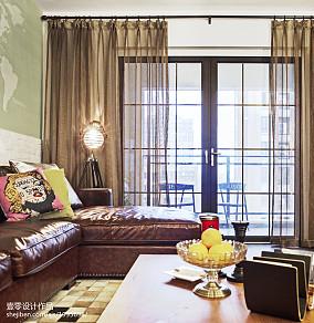 102m²三居阳台现代室内效果图