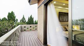 热门119平米四居阳台中式装修图片