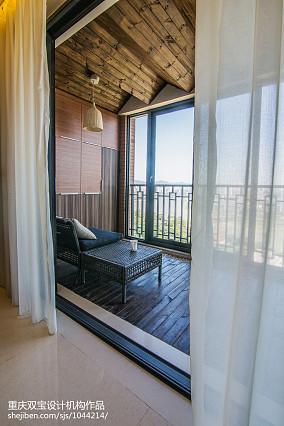热门新古典三居阳台装修效果图片
