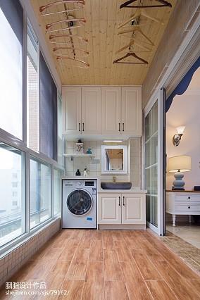 优美26平美式小户型阳台装修图